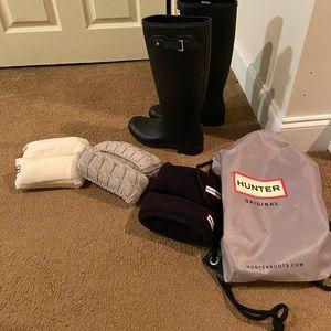 Hunter Original Tour Packable Rain Boots & 3x sock